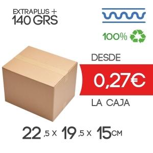 22,5x19,5x15 cm Exterior Caja de Cartón de Canal Sencillo Modelo B-1 B-1