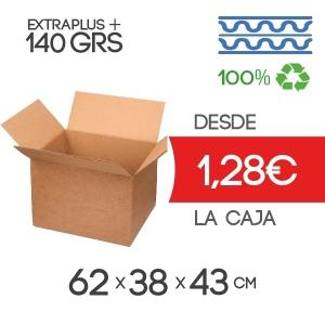 Cajas de Cartón de 62x38x43 cm Exterior en Canal Doble Modelo B-1
