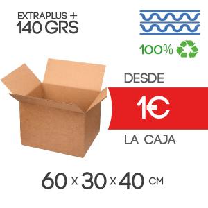 Cajas de Cartón 60x30x40 cm Exterior en Canal Doble Modelo B-1