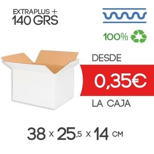 Cajas de Cartón de 38x25,5x14 en Canal Sencillo Modelo B-1 de