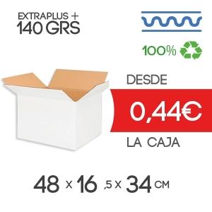 Cajas de Cartón 48x16,5x34,5 cm Exterior en Canal Sencillo Modelo B-1