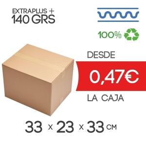 Cajas de Cartón para imprenta 33x23x33 cm Exterior de Canal Sencillo Modelo B-1