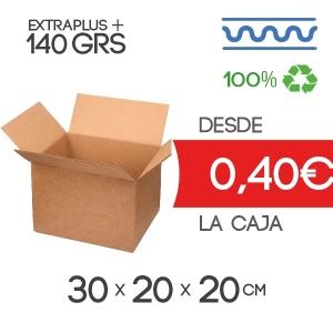 30x20x20 cm Exterior Caja de Cartón de Canal Sencillo Modelo B-1