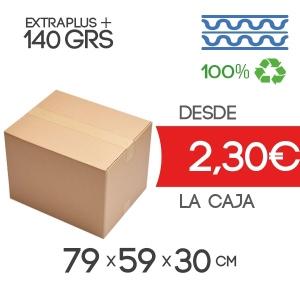 Cajas de Cartón de 79x59x30 cm Exterior en Canal Doble Modelo B-1