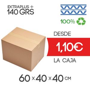 Cajas de Cartón de 60x40x40 cm Exterior en Canal Doble Modelo B-1