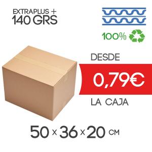 Cajas de Cartón de 50x36x20 cm Exterior en Canal Doble Modelo B-1