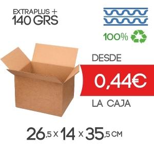 Caja de Cartón de Canal Doble Modelo B-1 26.5x14x35.5 cm Exterior