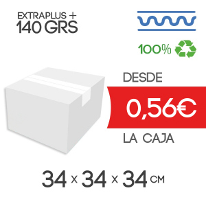 Cajas de Cartón de 34x34x34 cm en Canal Sencillo