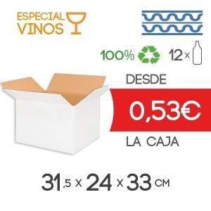 Cajas de Cartón para 12 Botellas de Vino en Cartón Doble Modelo B-1