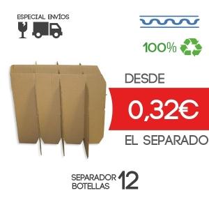 Separadores para caja de 12 botellas de 7,5 cm Exterior