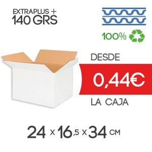 Caja de Cartón de Canal Doble Modelo B-1 24x16,5x34 cm Exterior