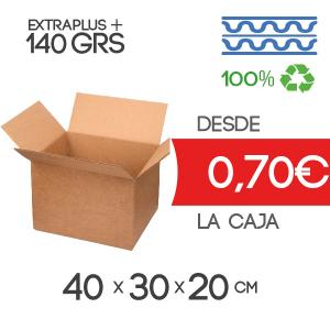 Cajas de Cartón de 40x30x20 cm Exterior en Canal Doble Modelo B-1