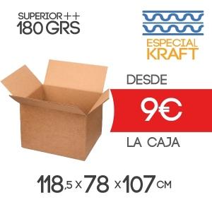 Cajas de Cartón Tamaño Palet Europeo en Canal Doble Modelo B-1 118,5x78x107 cm Exterior