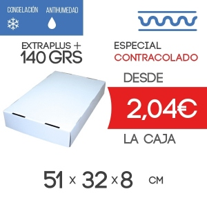 Tapa para Caja de Almacenaje Contracolado Blanco + Acabado Brillo 51x32x8cm