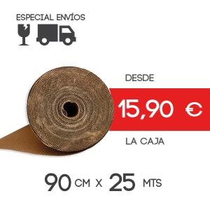Rollo Cartón Ondulado 90cm x 25mts