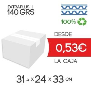 Cajas de Cartón 31,5x24x33 cm Exterior de Canal Doble Modelo B-1