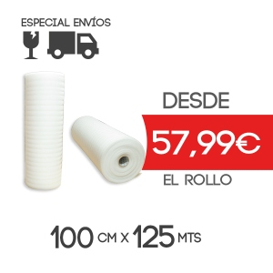 Foam Rollo Espuma Polietileno 100cmx125m