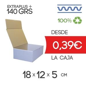Caja de Cartón Automontable con tapa incorporada 18 x 12 x 5 cm Exterior