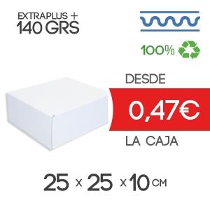 Caja de Cartón Automontable con tapa incorporada 25 x 25 x 10 cm Exterior