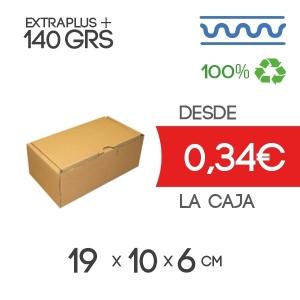 Caja de Cartón Automontable con tapa incorporada 19 x 10 x 6 cm Exterior