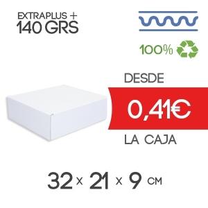Caja Blanca Automontable con tapa incorporada 32 x 21 x 9 cm