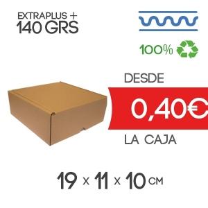 Caja de Cartón Automontable con tapa incorporada 19 x 11 x 10 cm Exterior