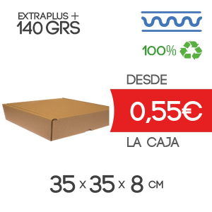 Caja Blanca Automontable con tapa incorporada 35 x 35 x 8 cm