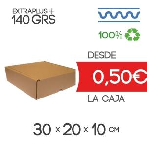 Caja de Cartón Automontable con tapa incorporada 30 x 20 x 10 cm Exterior