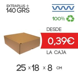 Caja de cartón para envíos 25x18x8 cm