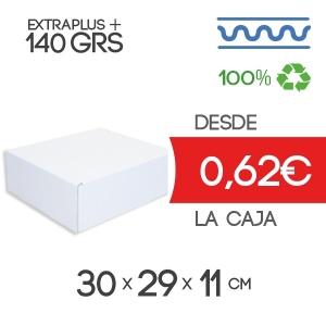 Caja de Cartón Automontable con tapa incorporada 30 x 29 x 11 cm Exterior