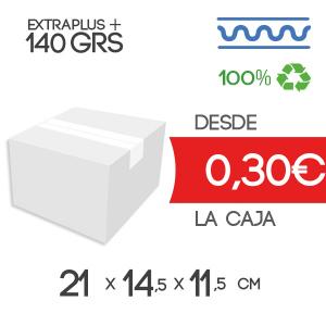 21x14.5x11.5 cm Exterior Caja de Cartón de Canal Sencillo Modelo B-1