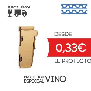 Protector especial vino 12.5x12.5x32 cm Exterior Caja de Cartón de Canal Doble Modelo B-1