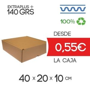 Caja Blanca Automontable con tapa incorporada 38 x 23 x 13 cm