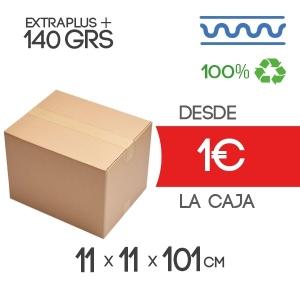 Caja de cartón marrón 4 solapas 11x11x101cm
