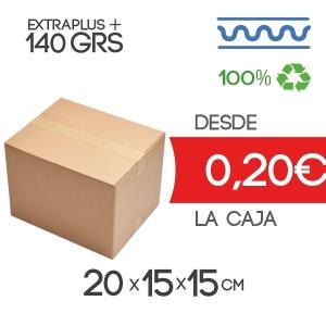 Caja de cartón marrón 4 solapas 20x15x15cm