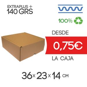 Caja de cartón automontable marrón 36x23x14cm Exterior