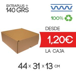 Caja de cartón automontable marrón 44x31x13cm Exterior