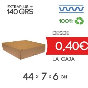 Caja de cartón automontable marrón 44x7x6cm Exterior