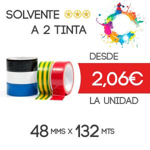 Precinto personalizado Solvente 132mts - 2 tintas