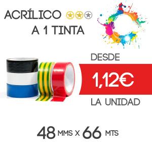 Precinto personalizado Acrílico 66mts - 1 tinta