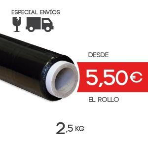 Film para Paletizar Negro - 51cm x 120 mts - 23 micras