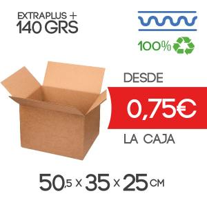 Caja de Cartónde 50,5x35x25 cm Exterior Canal Sencillo Modelo B-1 Marrón