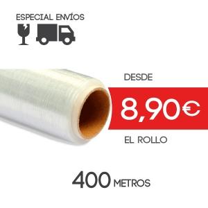 Film para Paletizar Transparente - 400 metros - 12 micras