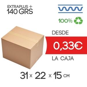 31x22x15cm Exterior Caja de Cartón de Canal Sencillo Modelo B-1