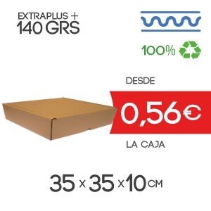 Caja Automontable con tapa incorporada 35 x 35 x 10 cm