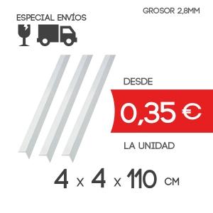 Cantoneras Ala 38mm Grosor 2.8 mm y Largo de 110 cm
