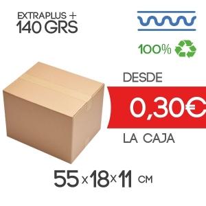 Cajas de Cartón de 55x18x11 cm en Canal Sencillo