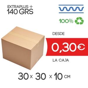 30x30x10cm Exterior Caja de Cartón de Canal Sencillo Modelo B-1