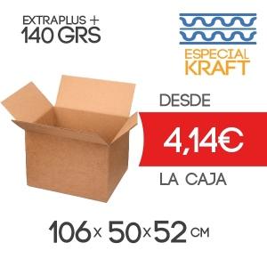 100x60x40 cm Caja De Cartón de Canal Doble (4 Solapas)