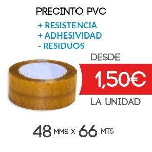 Rollos de Precinto o Cinta Adhesiva PVC Transparente 66 metros x 48 mm de ancho